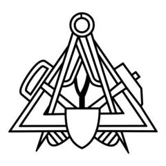 Maurer ~ Symbol ~ Zeichen ~ Emblem V1