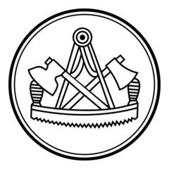 Zimmerer ~ Symbol ~ Zeichen ~ Emblem V2