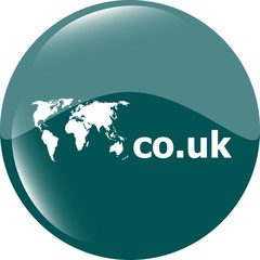 Domain CO.UK sign icon. Top-level internet domain