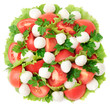 fresh vegetable salad with cheese