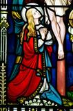 Mary Magdalene kneeling for the cross poster