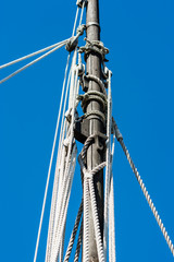 Detail of sail mast