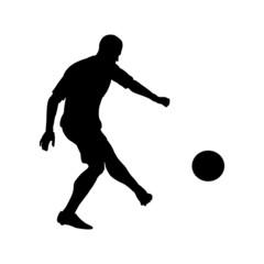 Football kick the ball
