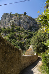 Eze, France. On the famous trail of Nietzsche