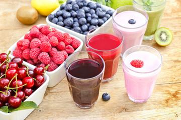 Freshly prepared organic drinks