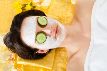 Woman With Face In Beauty Spa