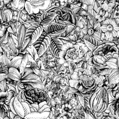 Summer seamless floral pattern.