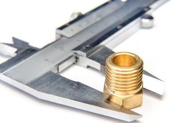 vernier caliper measures the nut