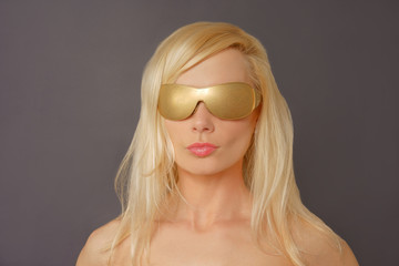 Blonde Woman with Gold Glasses