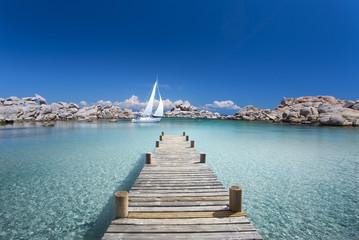Passerelle en Bois sur ma Mer
