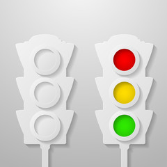 Paper traffic light
