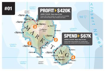Map Infographic Marketing