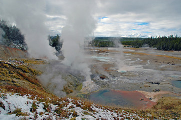 Geothermal area and hot springs, Yellowstone National Park