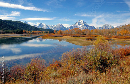 Fotobehang Natuur Park Fall foliage in the Rocky Mountains