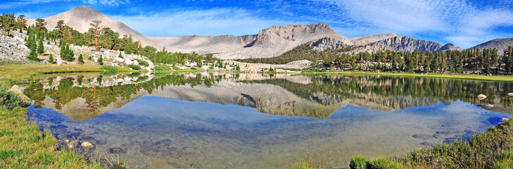 Alpine Lake in the Sierra Nevada Mountains, California