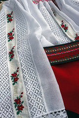 Romanian traditional female costume.