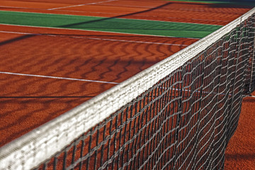Synthetic Tennis Court. Detail