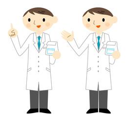 説明する薬剤師