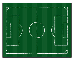 football court or field isolated illustration