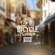 Type vintage design with bicycle silhouette