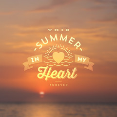Type vector design - Summer sea sunset