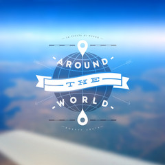 Aroun the world - type vector design