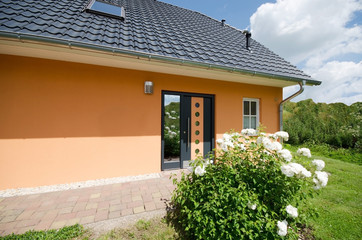 Hauseingang modernes Eigenheim