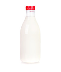 Milk in plastic bottle