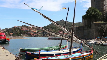 view of the harbor town of Collioure