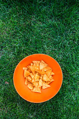 corn nachos on the picnic