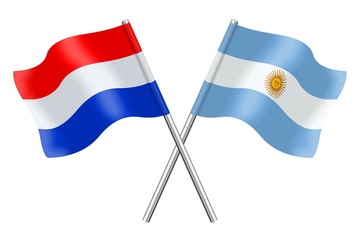 Flags : the Netherlands and Argentina