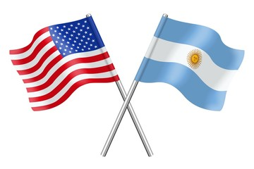 Flags : the United States and Argentina