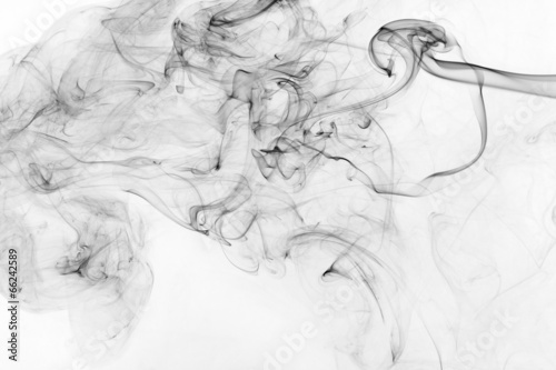 Foto op Canvas Rook abstract black smoke