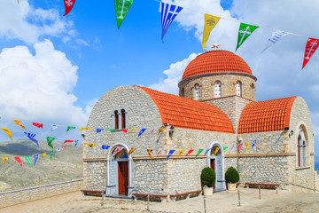 A view of a church on Greek island, Kalymnos, Greece