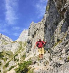 Abstieg im Hochgebirge