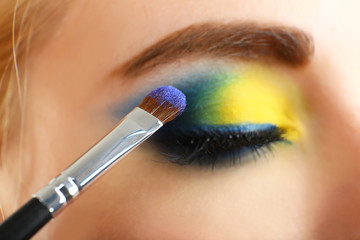 Beautiful eye with bright make-up, close up