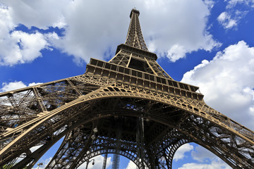 Tour Eiffel, Wideangle Street view - Paris