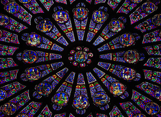 The North Rose window at Notre Dame cathedral