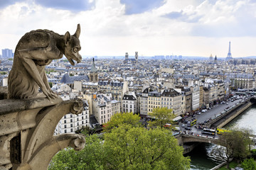 Notre Dame of Paris: Famous Chimera overlooking the city