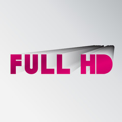 """Full HD"" typo vector,Eps 10"