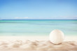 Summer beach with volleyball ball