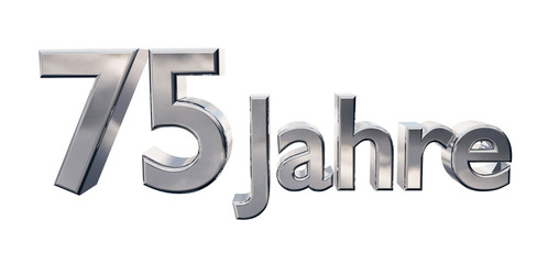 75 Jahre - 3D Chrom
