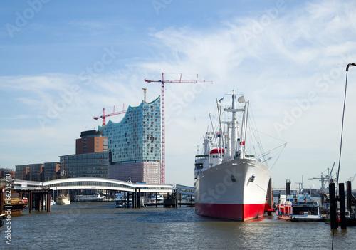 Fotobehang Poort Hafen in Hamburg