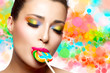 Sweet Pleasure. Colorful Makeup