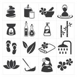 Fototapety icon spa and massage