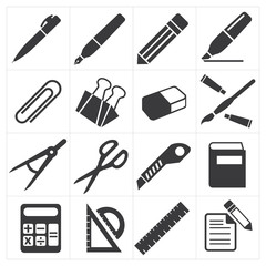 icon stationary education