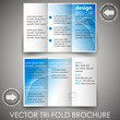 Tri fold corporate business brochure