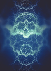 Abstract fractal texture, wisps and lights, Background design of