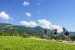 Radfahrer im Gebirge