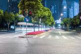 city streets at night